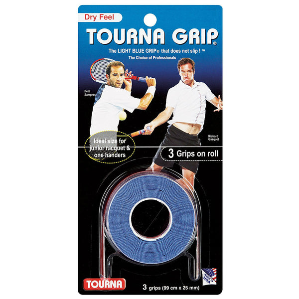 Tourna Grip Original Overgrip 3 Pack (Blue) - RacquetGuys
