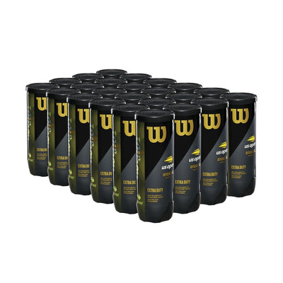 Wilson US Open Extra Duty Tennis Balls - 24 Can Case