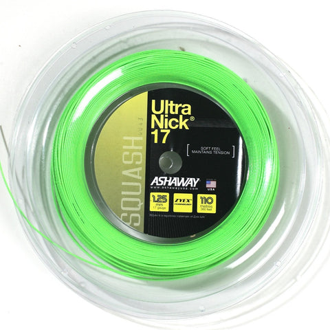 Ashaway UltraNick 17 Squash String Mini Reel (Green)