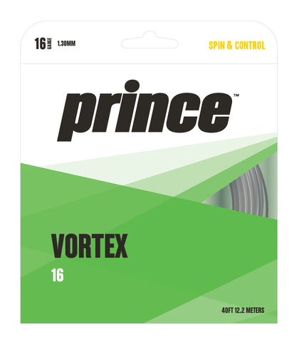 Prince Vortex 16 Tennis String (Black)