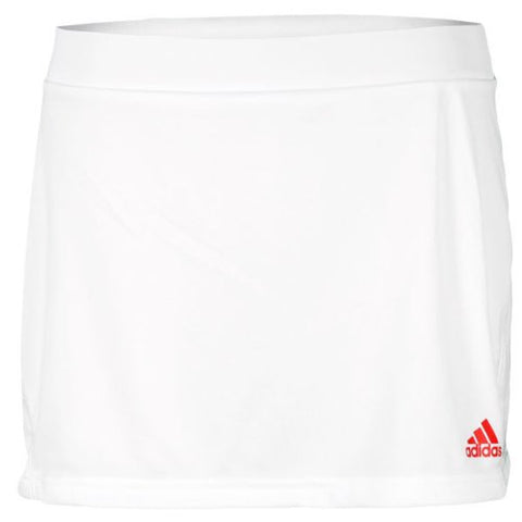 adidas Girl's Barricade Skirt (White Core Energy) - RacquetGuys