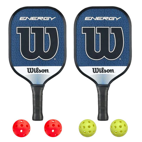 Wilson Energy 2 Paddle Pickleball Bundle - RacquetGuys.ca