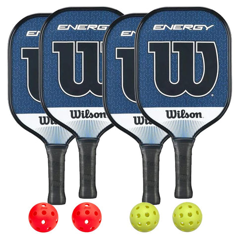 Wilson Energy 4 Paddle Pickleball Bundle - RacquetGuys