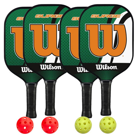 Wilson Surge 4 Paddle Pickleball Bundle - RacquetGuys.ca