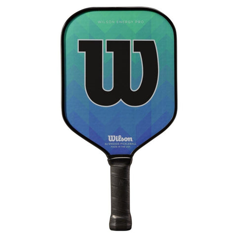 Wilson Energy Pro Pickleball Paddle (Green/Blue) - RacquetGuys