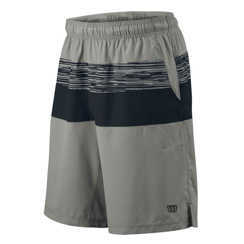 Wilson Mens Summer Specialist Colourblock 10 Inch Shorts (Cool Grey) - RacquetGuys
