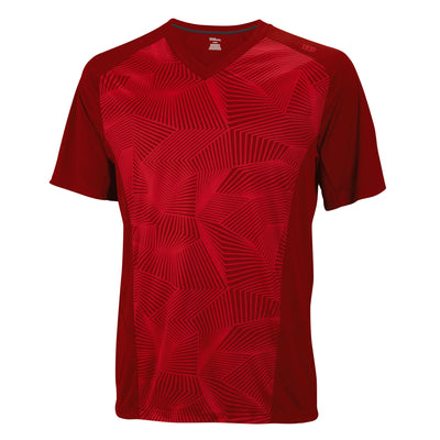 Wilson Mens Spring Solana Geo T-Shirt (Red)