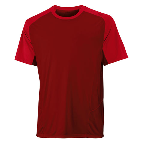 Wilson Mens Spring Solana Colourblock Top (Red) - RacquetGuys