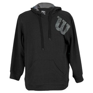 Wilson Boy's Knit Pull Over Hoodie (Black) - RacquetGuys