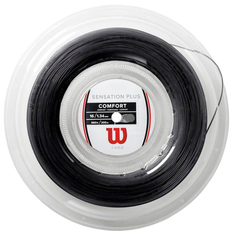 Wilson Sensation Plus 16 Tennis String Reel (Black) - RacquetGuys