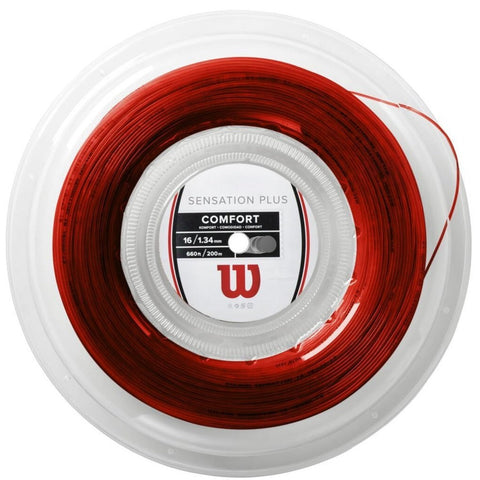 Wilson Sensation Plus 16 Tennis String Reel (Red) - RacquetGuys