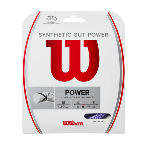 Wilson Synthetic Gut Power 16 Tennis String (Purple) - RacquetGuys