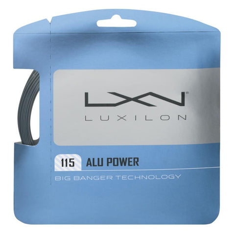 Luxilon ALU Power 18 Tennis String (Silver) - RacquetGuys.ca