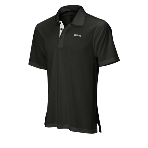 Wilson Mens Body Mapping Polo (Black) - RacquetGuys
