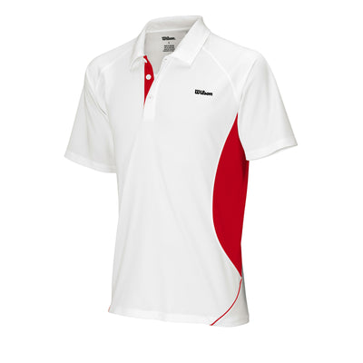Wilson Mens Performance Polo (White/Red)