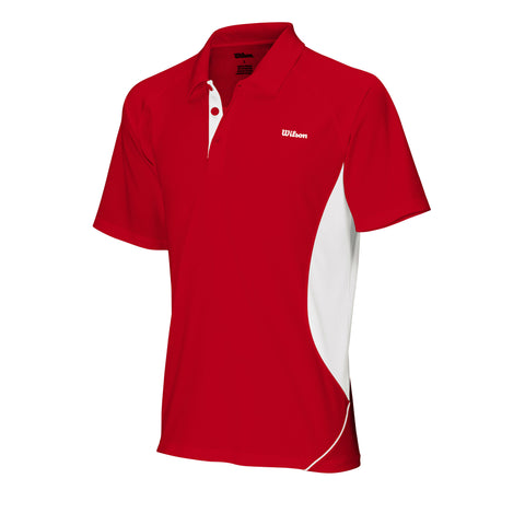 Wilson Mens Performance Polo (Red/White) - RacquetGuys