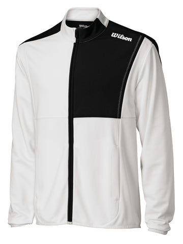 Wilson Mens Blow Away Jacket (White/Black) - RacquetGuys