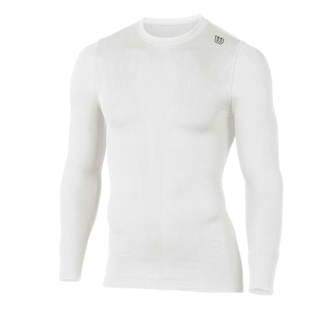 Wilson Mens Seamless Long Sleeve Top (White) - RacquetGuys