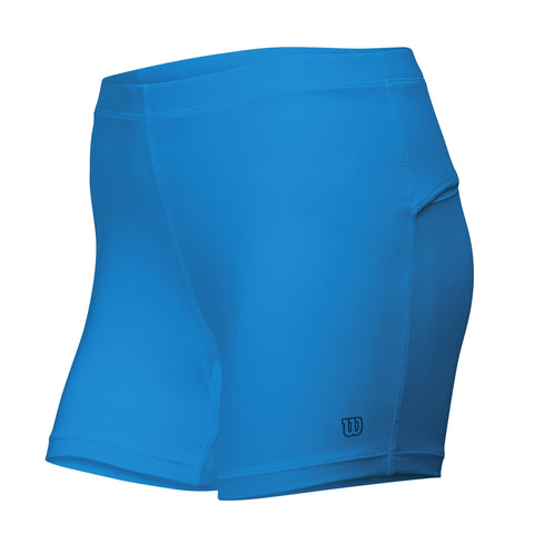 Wilson Womens Compression Shorts (Cyan) - RacquetGuys.ca
