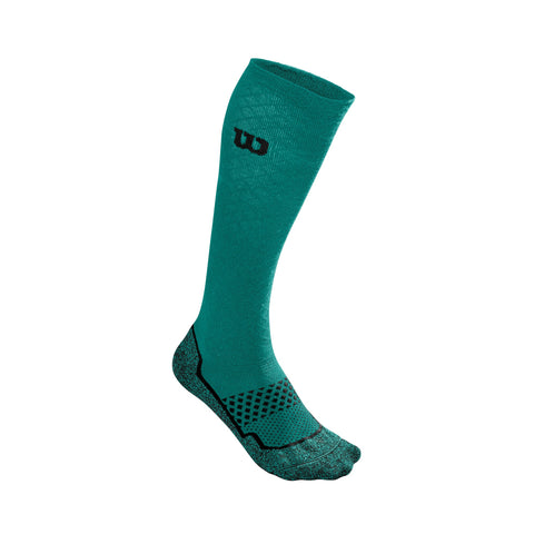 Wilson Women's Amplifeel Knee Socks (Green) - RacquetGuys.ca