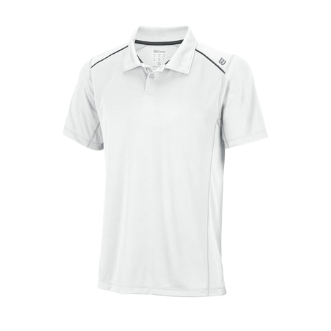 Wilson Mens nVision Elite Polo (White) - RacquetGuys
