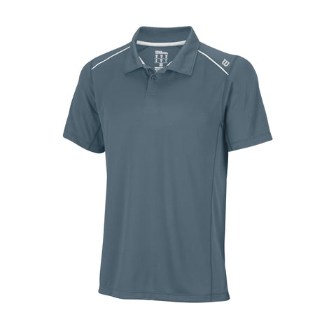 Wilson Mens nVision Elite Polo (Blue/Mirage) - RacquetGuys