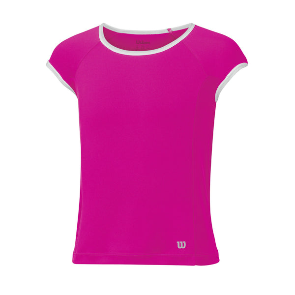 Wilson Girls nVision Elite Top (Pink) - RacquetGuys