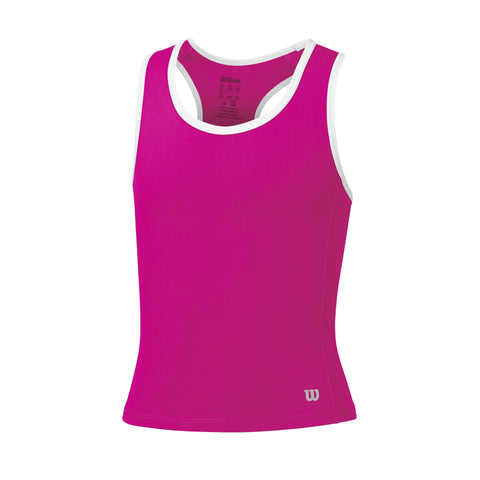 Wilson Girls Rush Tank Top (Pink) - RacquetGuys