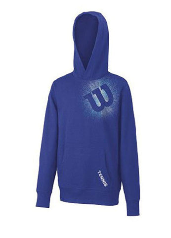Wilson  Boy's Knit Pull Over Hoodie (Blue/Iris)