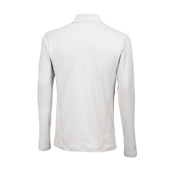 Wilson Mens nVision Zip Neck Long Sleeve (White) - RacquetGuys