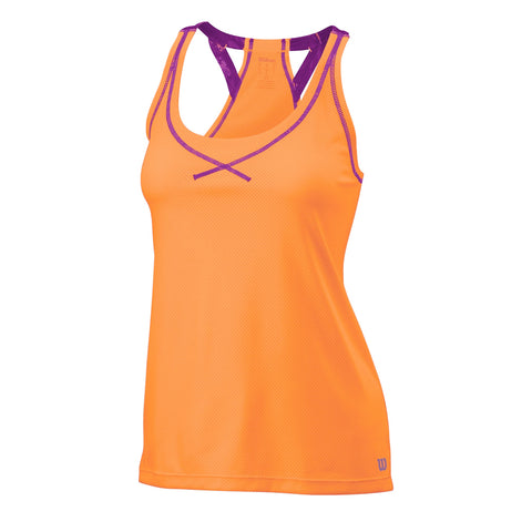 Wilson Womens Spring Boyfriend Tank Top (Orange) - RacquetGuys