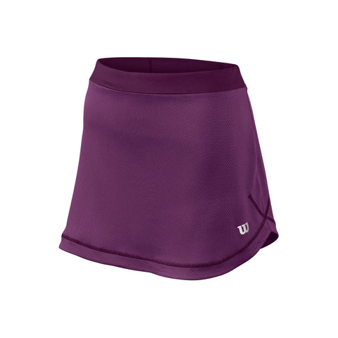 Wilson Womens Spring Mesh 12.5 Inch Skirt (Plumberry/Dark Purple) - RacquetGuys