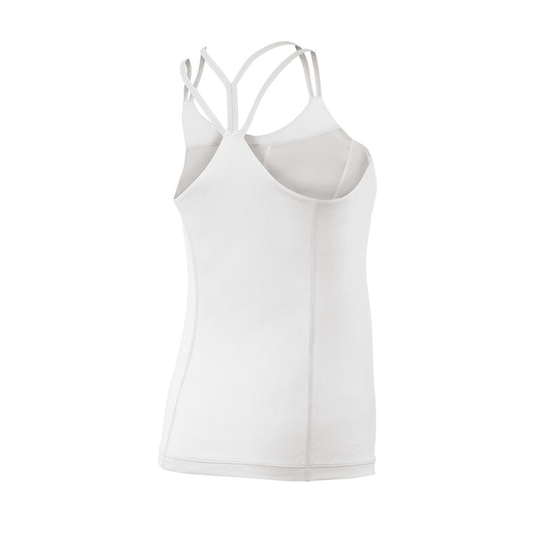 Wilson Womens Star Double Strap Tank Top (White) - RacquetGuys