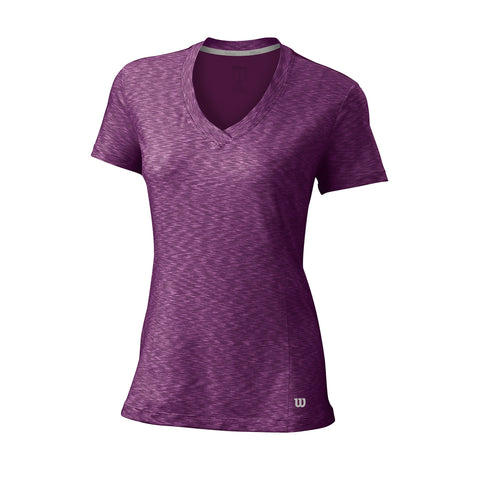 Wilson Womens Striated Top (Dark Plum) - RacquetGuys