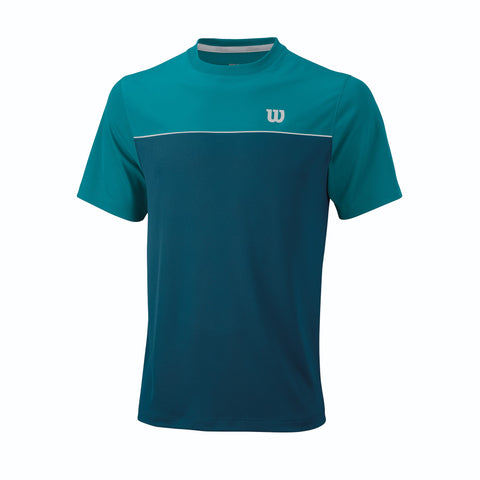 Wilson Mens Star Bonded Crew Top (Moroccan Blue/Enamel Blue) - RacquetGuys