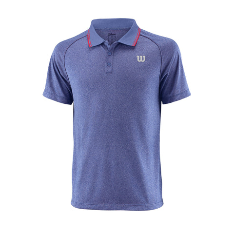 Wilson Mens Core Polo (Mazarine Blue/Red) - RacquetGuys