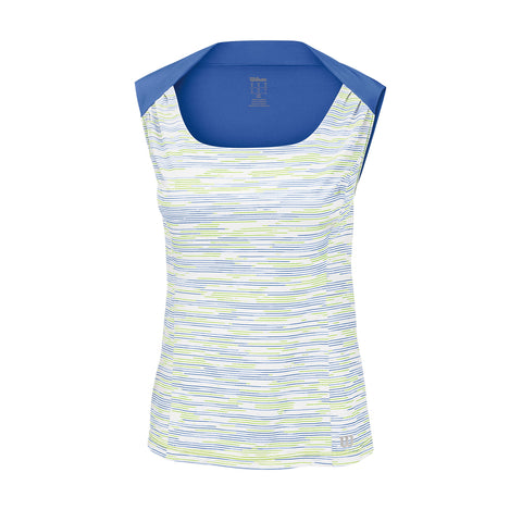 Wilson Womens Star Striated Tank Top (White) - RacquetGuys