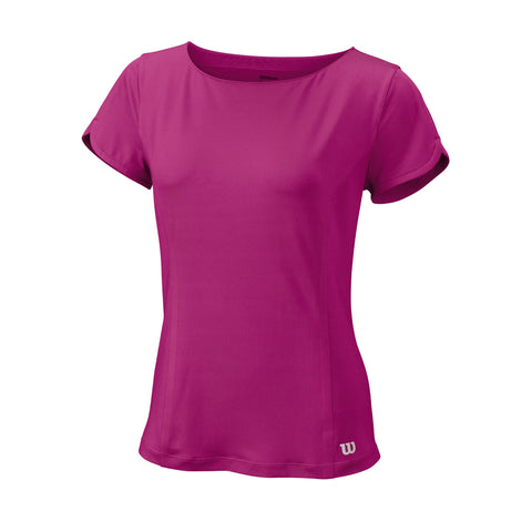 Wilson Womens Star Crossover Top (Violet) - RacquetGuys