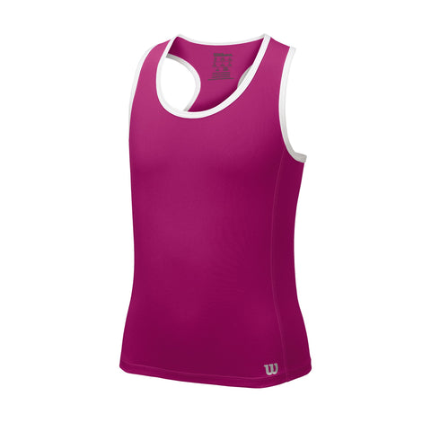Wilson Girls Core Tank Top (Rose/Violet) - RacquetGuys.ca