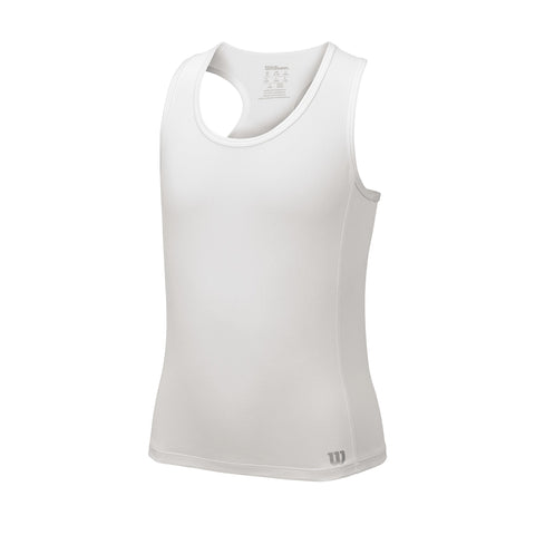 Wilson Girls Core Tank Top (White) - RacquetGuys