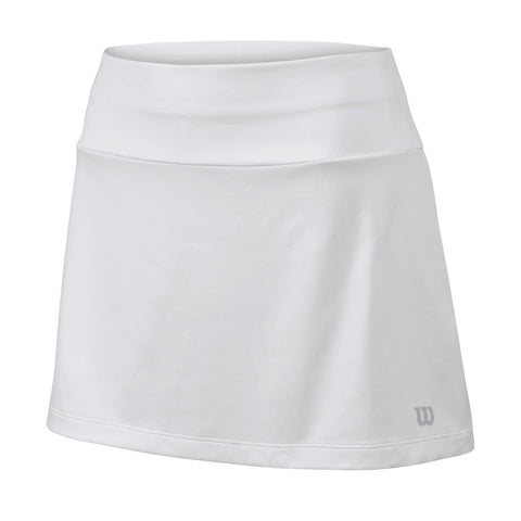 Wilson Girls Core 11 Inch Skirt (White) - RacquetGuys