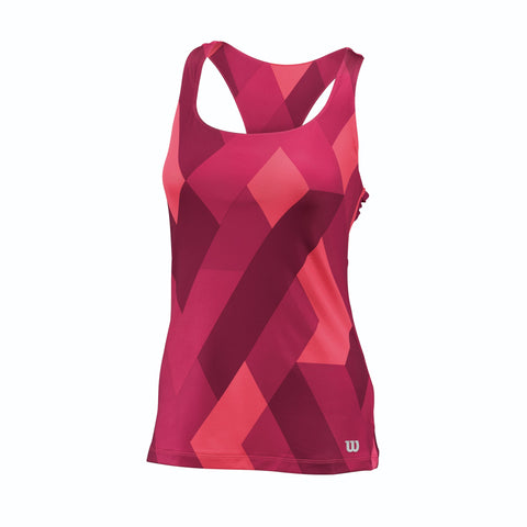 Wilson Womens Accord Tank Top (Beet Red) - RacquetGuys