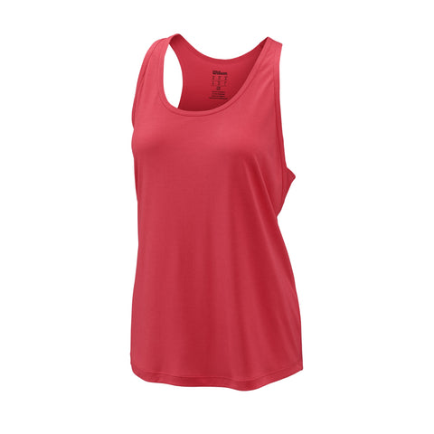Wilson Womens Core Condition Tank Top (Fiery Coral) - RacquetGuys