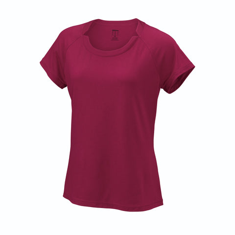 Wilson Womens Condition Top Beet (Red) - RacquetGuys