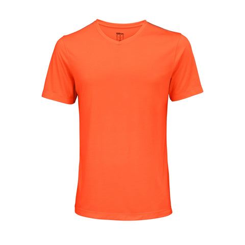 Wilson Mens Condition Top (Shock Orange) - RacquetGuys