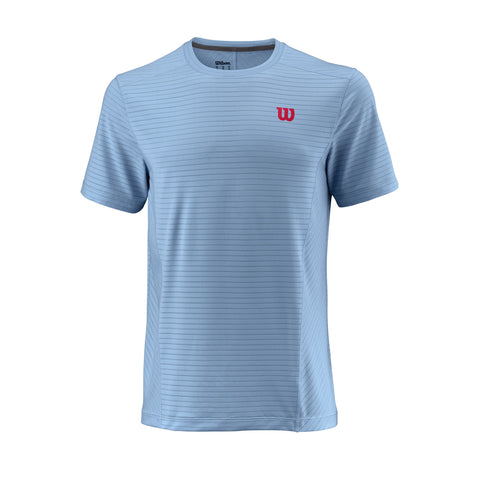 Wilson Mens UWII Linear Top (Airy Blue) - RacquetGuys