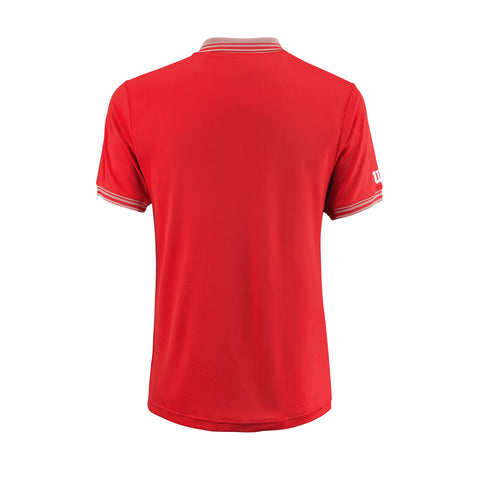 Wilson Mens Team Polo (Red) - RacquetGuys
