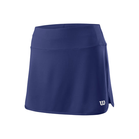 "Wilson Womens Team 12.5"" Skirt (Blue Depth) - RacquetGuys"