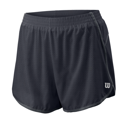 Wilson Women's Competition Woven 3.5 Short (Ebony) - RacquetGuys