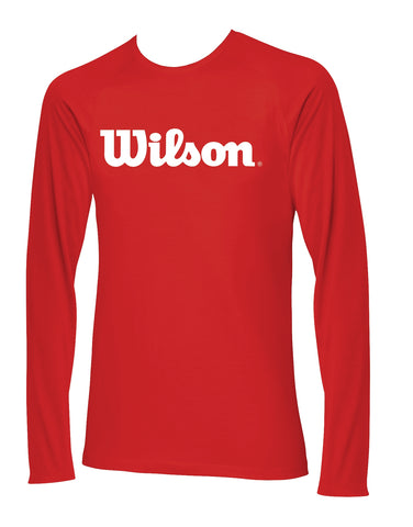 Wilson Mens Long Sleeve Top (Red/White) - RacquetGuys
